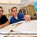 Preparing a Decent Persuasive Article